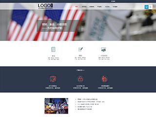 金融行业a58模板网站