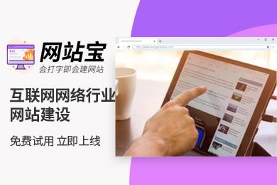 智能模板 互联网网络行业网站建设 网站宝