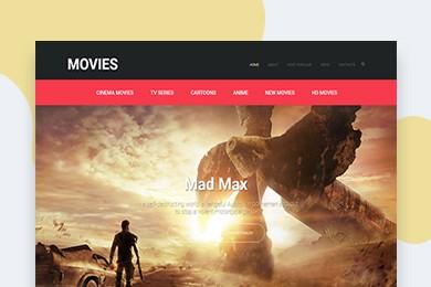 高端定制 影院电影行业网站建设 快建美站