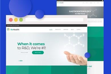 高端定制 医药保健品行业网站建设 快建美站
