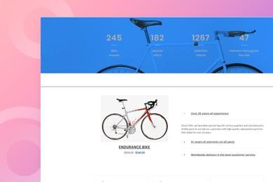 高端定制 摩托车电动自行车行业网站建设 快建美站