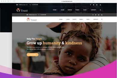 高端定制 慈善公益组织网站建设 快建美站