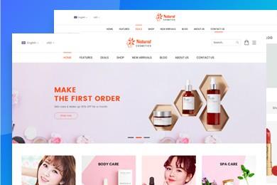 高端定制 美妆化妆品行业网站建设 快建美站