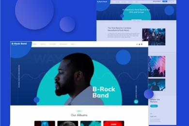 高端定制 音乐行业网站建设 快建美站