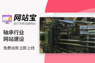 智能模板 轴承行业网站建设 网站宝