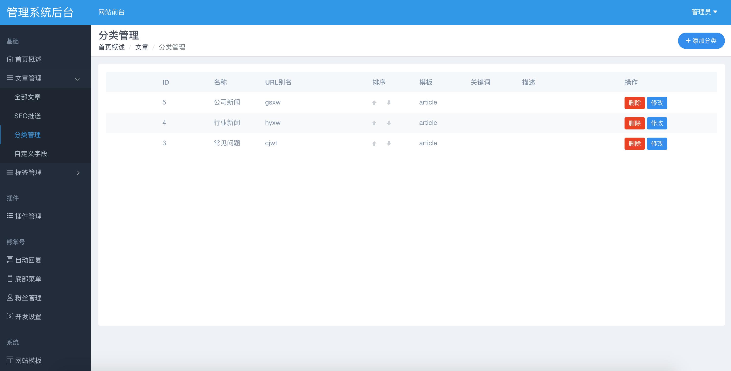 MIPCMS内容管理系统