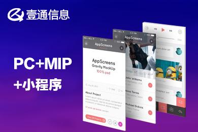 企业官网 网站建设 展示网站  PC MIP和小程序网站套餐